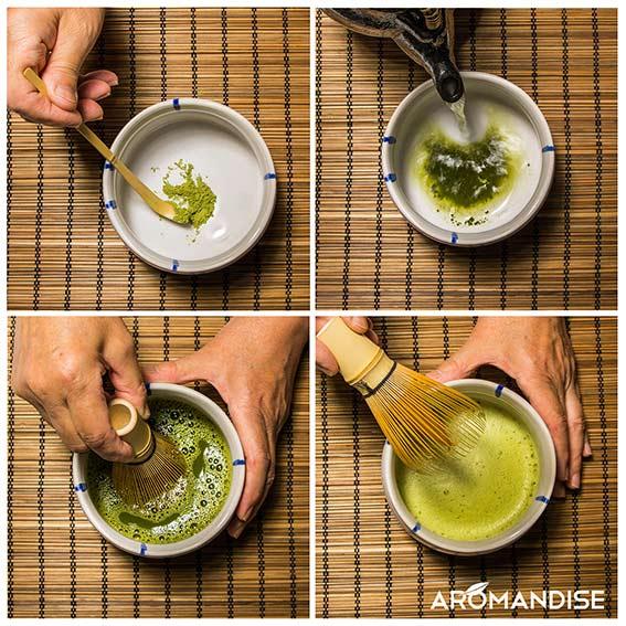 méthode de préparation du thé matcha