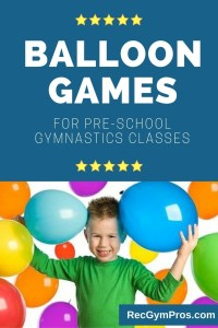 ballon games for preschool gymnastics classes