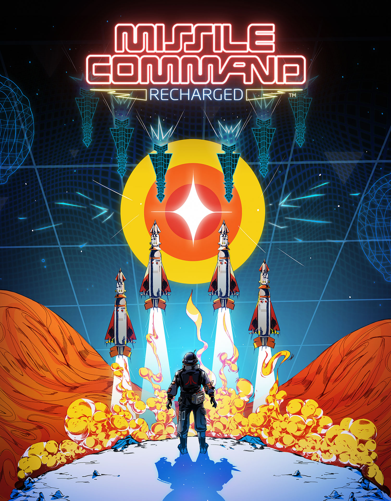 Missile Command Recharged - Poster
