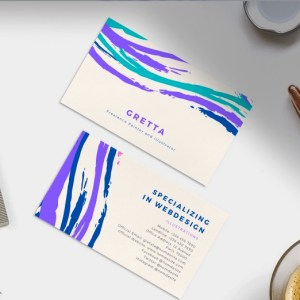 Design des cartes de visite simple