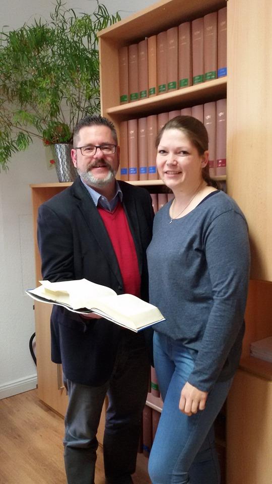Rechtsanwalt Joachim Kerner + Mitarbeiterin