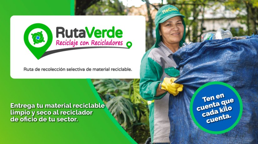 Con Ruta Verde Medellín estrena ruta de recolección selectiva de reciclaje