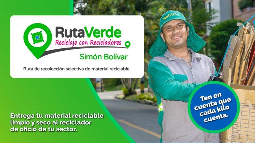 Una Ruta Verde recorre las calles de Simón Bolívar
