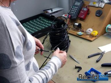 Montage de la partie électrique / électronique.