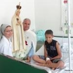Visita da Imagem Peregrina ao Hospital Maria Lucinda
