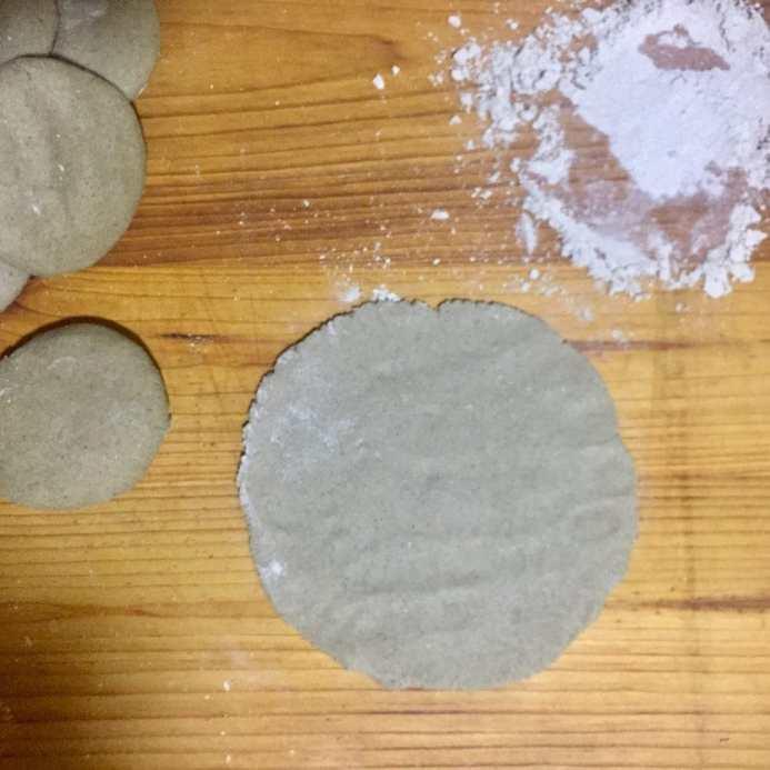 Make a small bajra roti.