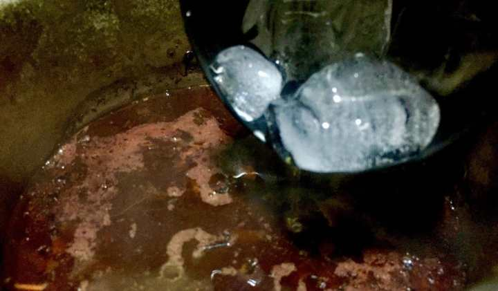 Add icy cold water to kashmiri tea.