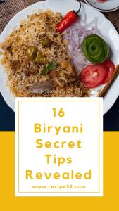biryani tips