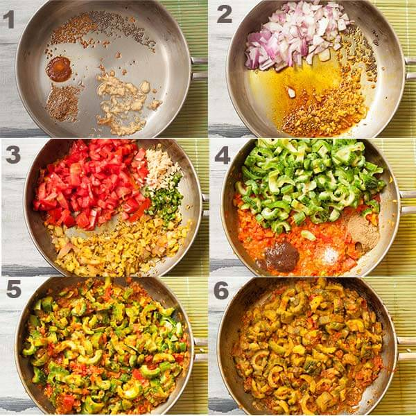 Steps to make gravy for indian bitter melon.