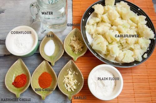 Ingredient for fried cauliflower