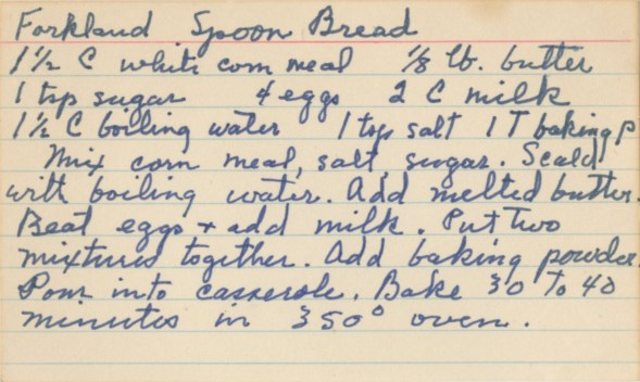 Forkland Spoon Bread