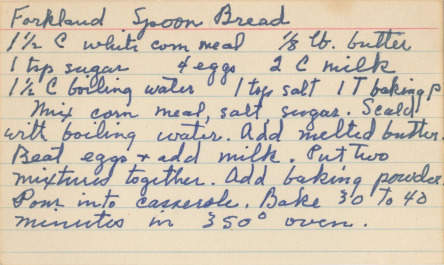 Forkland Spoon Bread
