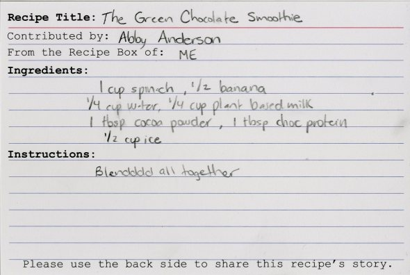The Green Chocolate Smoothie