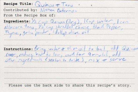 Quinoa + Tuna