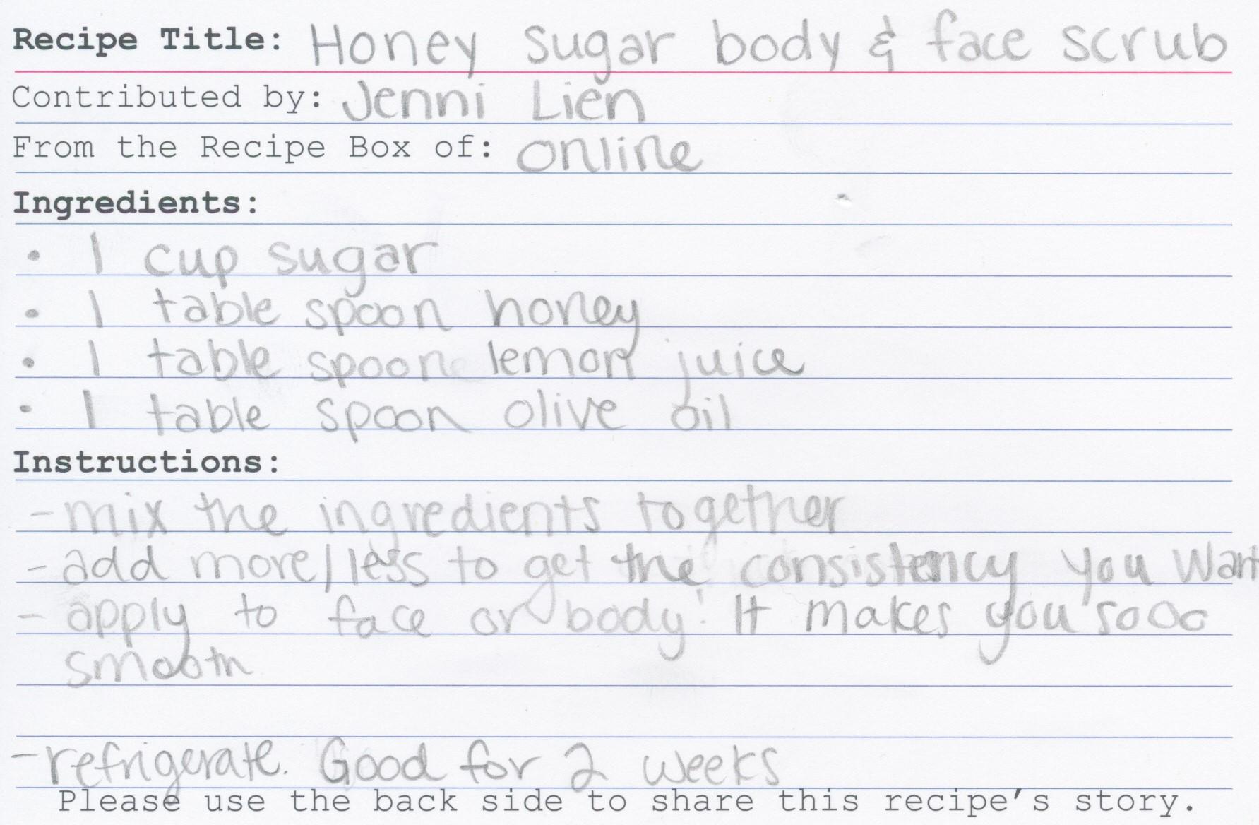 Honey Sugar Body and Face Scrub