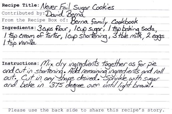Never Fail Sugar Cookies