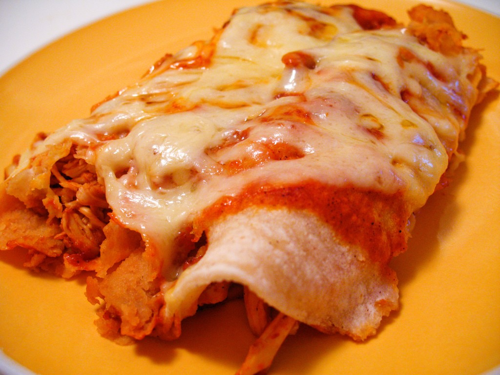 Shreded Chickedn Enchiladas, Photo by Joshua Bousel, Flickr commons
