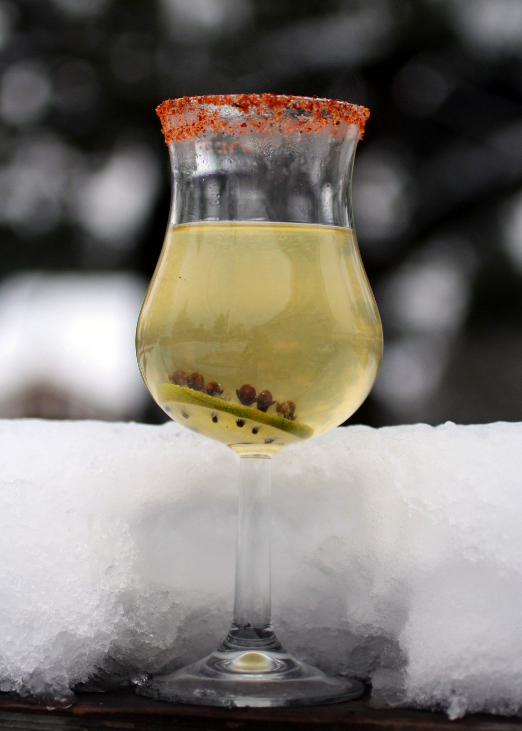 Tequila Toddy in the Snow