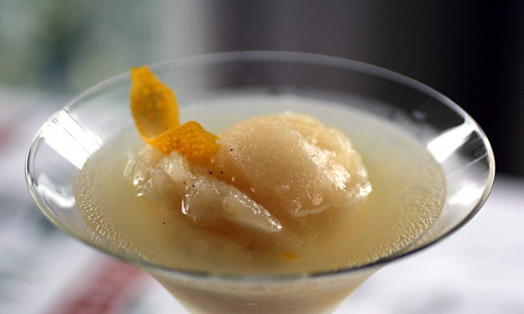pear sorbet float for grownups