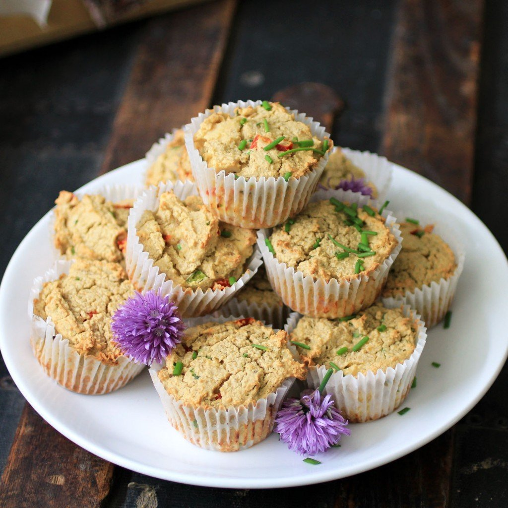 stack of green coconut curry muffins