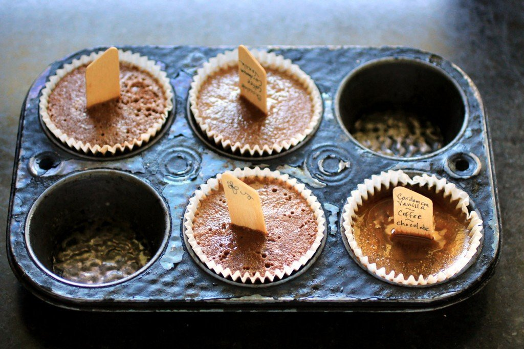 Cardamom Vanilla Pudding Cupcake Popscicles with coffee and chocolate