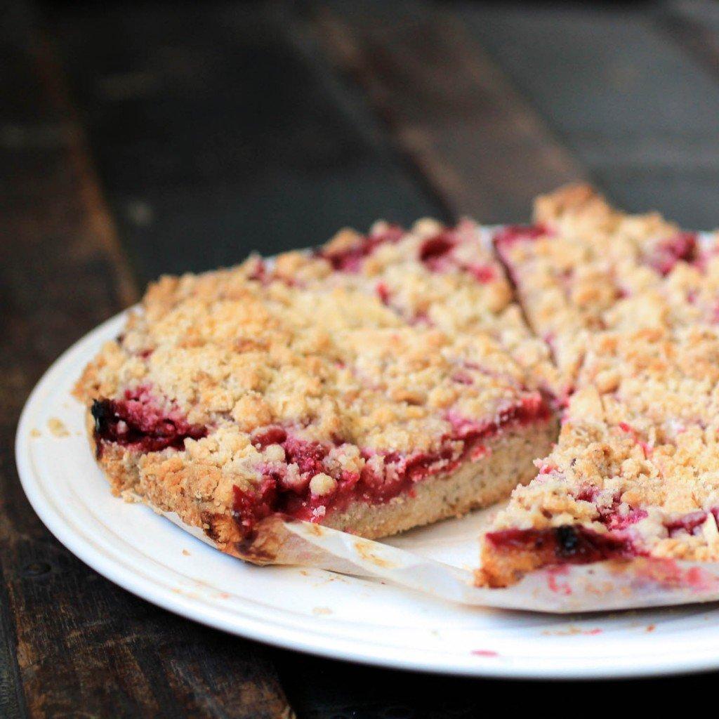 fresh raspberry crumb cake