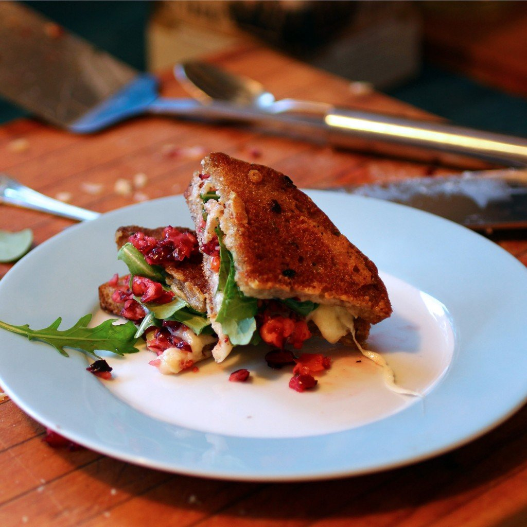 cranberry relish arugula grilled cheese