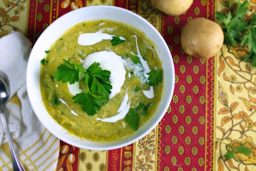 Simple, Stress-free Potato Leek Soup
