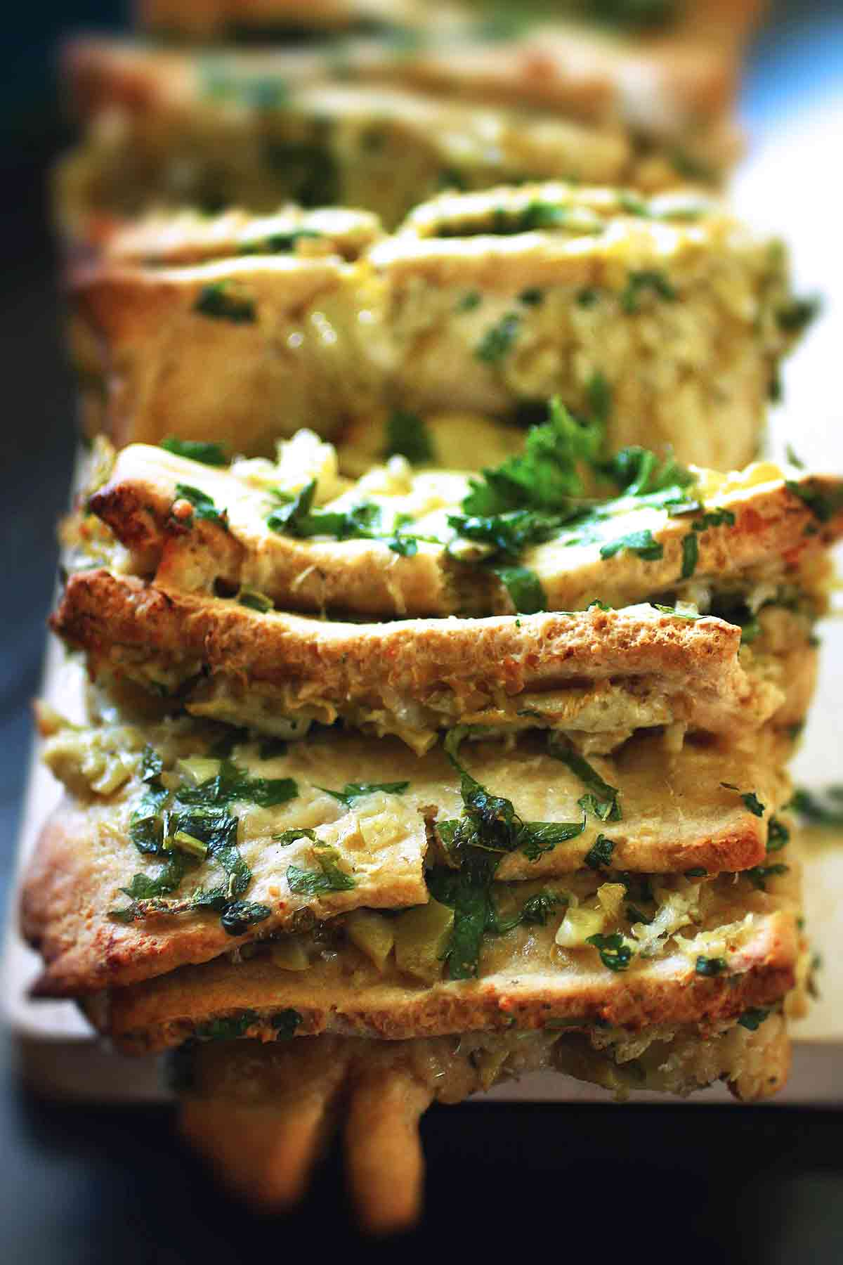 artichoke pull-apart bread no yeast