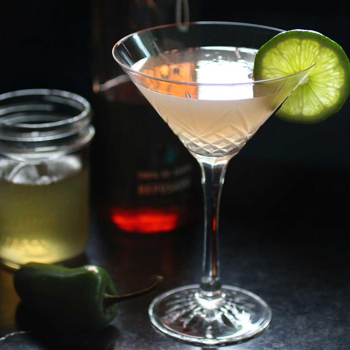 Jalapeño Lime Tequila cocktail