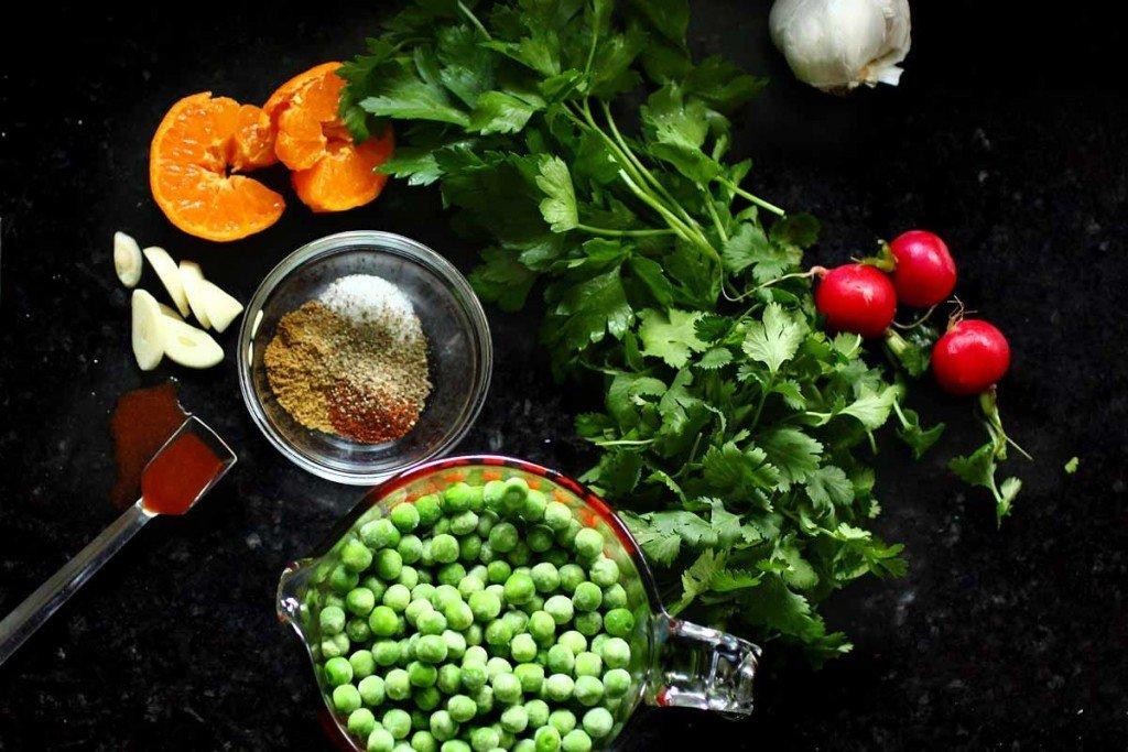 Sweet Pea Guacamole ingredients