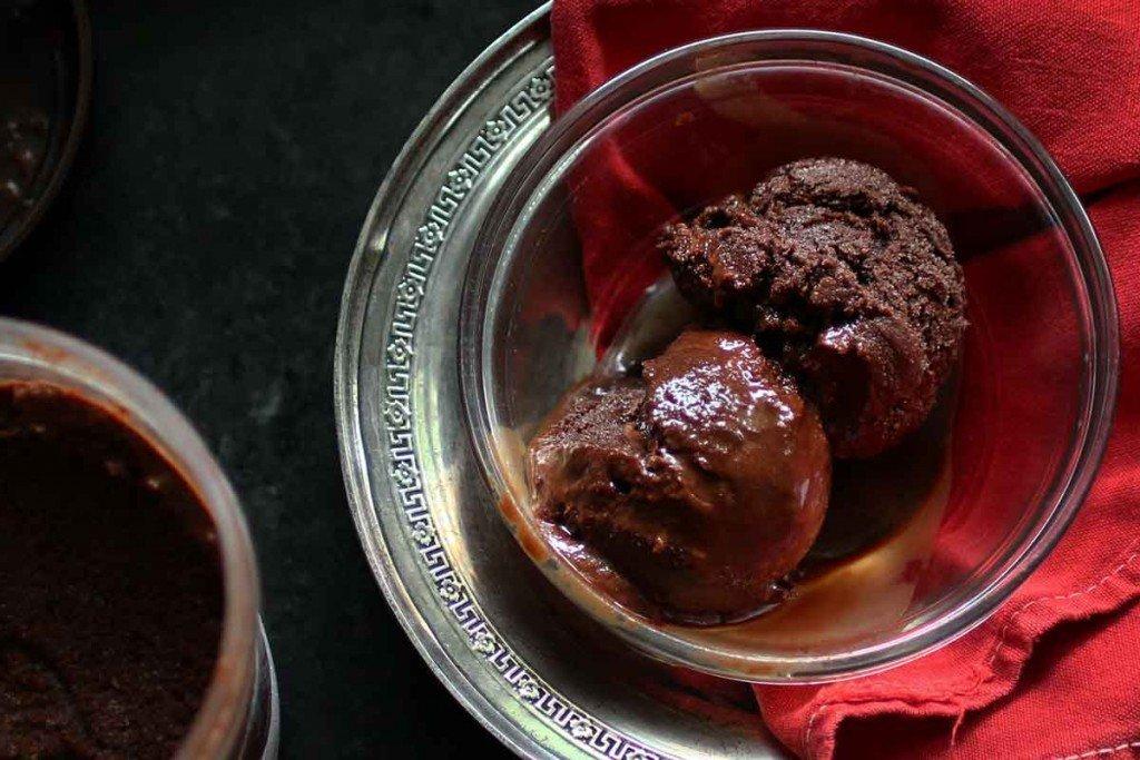 Chocolate Sorbet- no dairy, no ice cream maker