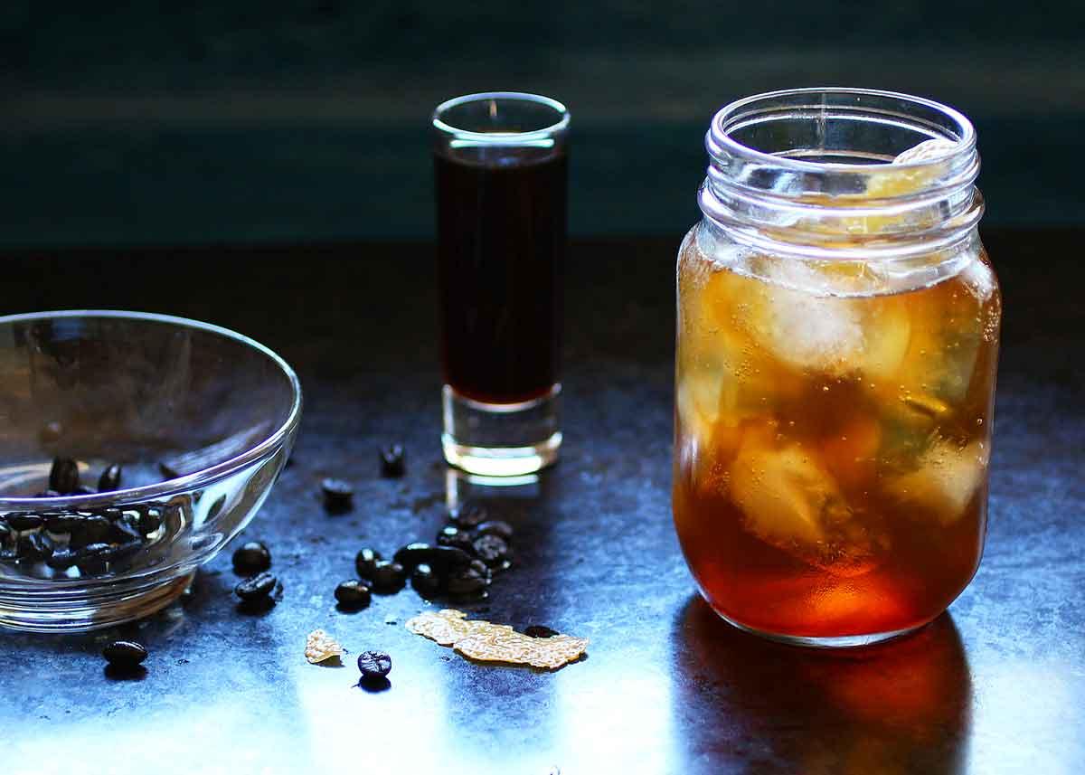 coffee vanilla infused vodka spritzer u2014 recipe fiction