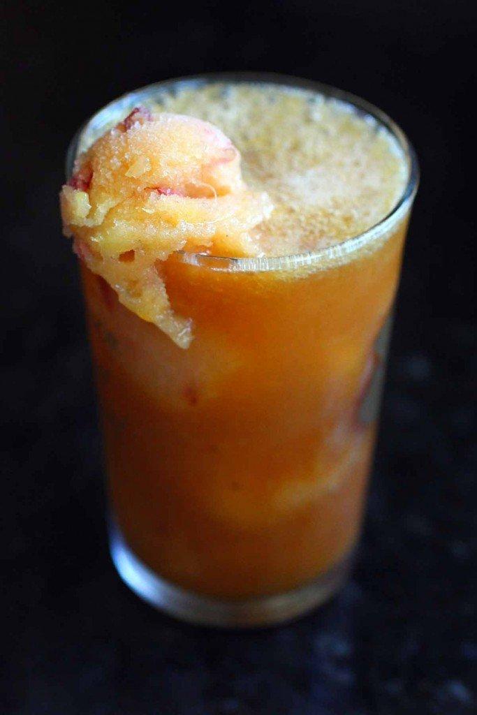 Peach Granita and Vodka Ice Tea Fizz