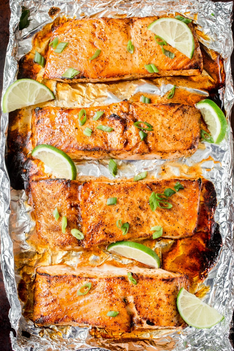 Broiled Honey Lime Glazed Salmon Recipe Girl