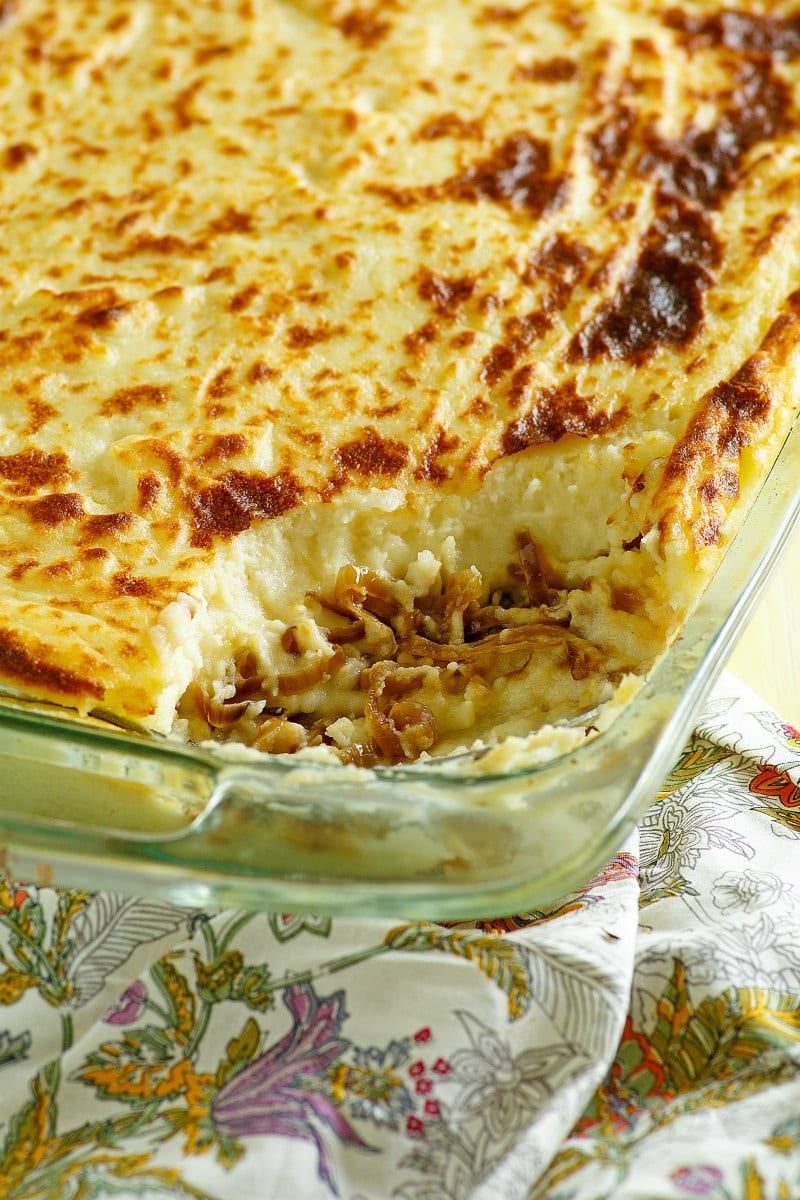 Potato Casserole with Caramelized Onions