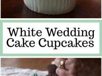 Pinterest Collage Image for White Wedding Cake Cupcakes