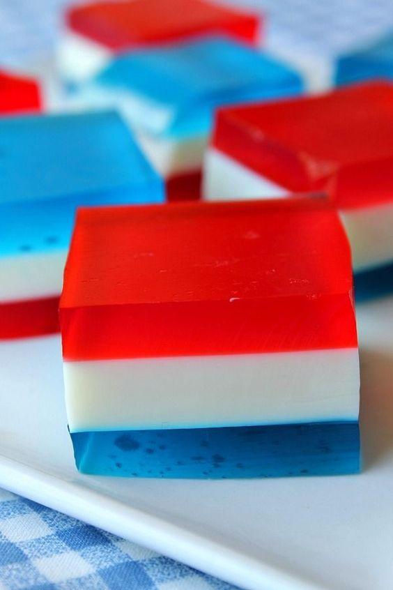 Red White and Blue Finger Jello