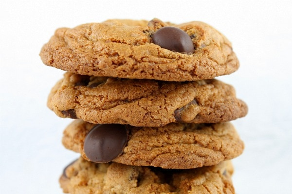 stack of Browned Butter Chocolate Chip Cookies