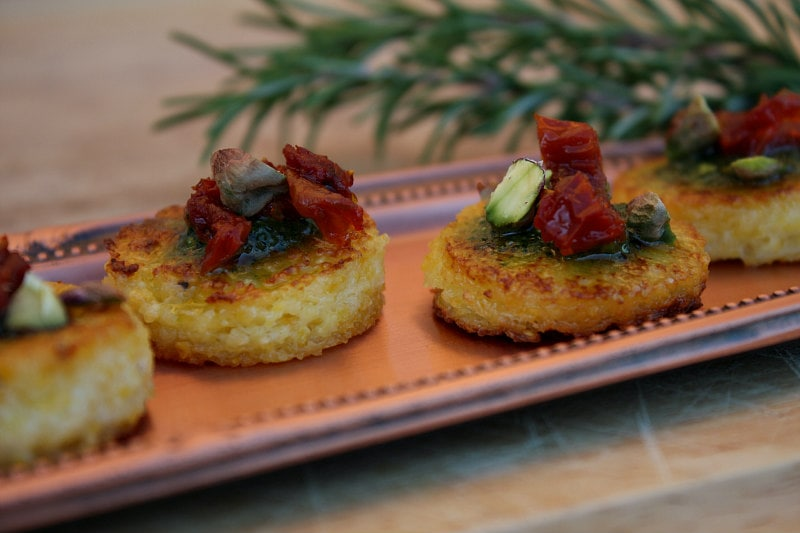 Sundried Tomato Polenta Bites