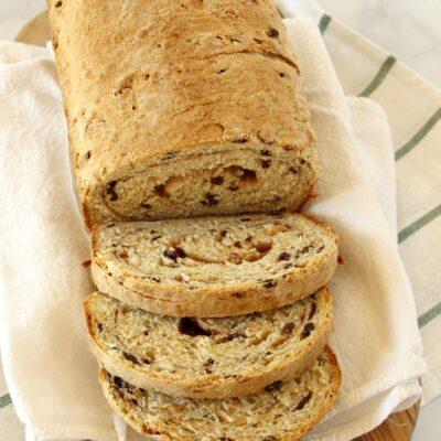 Sliced Cinnamon Oatmeal Bread
