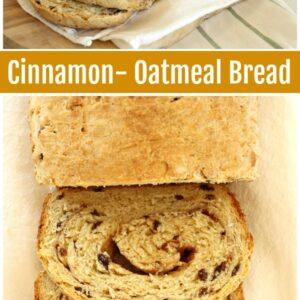 Cinnamon Oatmeal Bread