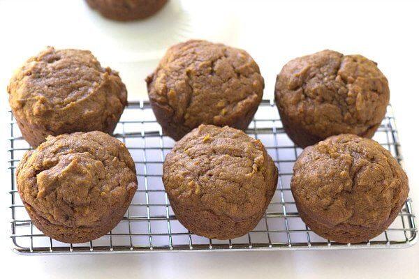 Pumpkin Gingerbread Muffins Recipe - by RecipeGirl.com