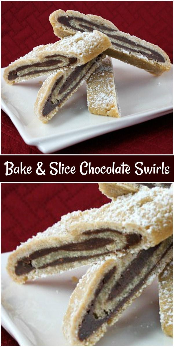 Bake and Slice Chocolate Swirls