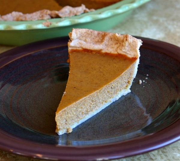 Maple Pumpkin Pie recipe from RecipeGirl.com