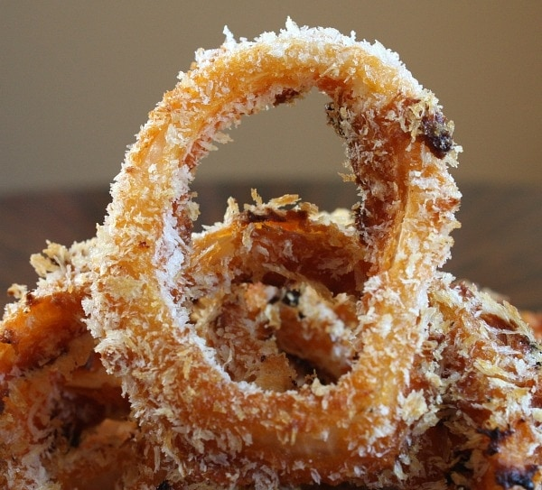 Baked BBQ Onion Rings