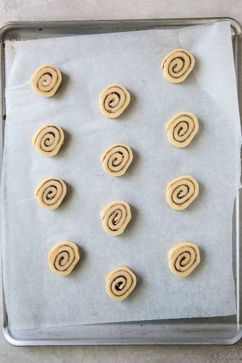 Cinnamon Bun Cookies ready for the oven