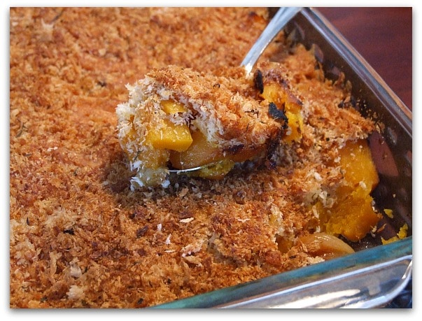 Traditional Thanksgiving Dinner Menu: the butternut squash