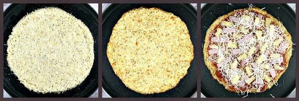 making Cauliflower Crust Pizza