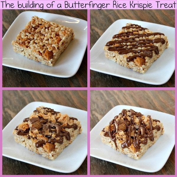 How to Make Butterfinger Rice Krispie Treats